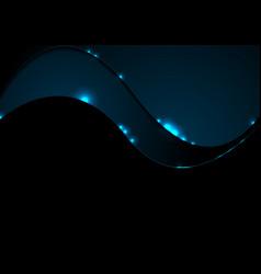 dark blue shiny corporate wavy background vector image vector image