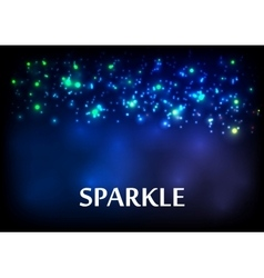 Dark blue sparkling bokeh background vector image