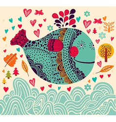 Decorative fish background vector