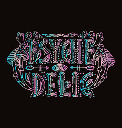 detailed ornamental psychedelic lettering vector image vector image