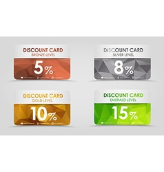 Discount cards polygonal background vector image vector image