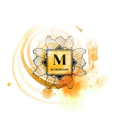 Fashion monogram with m letter vector