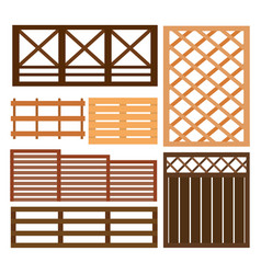 fence design elements vector image