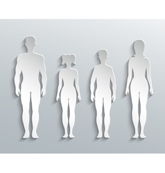 Human silhouettes vector image vector image