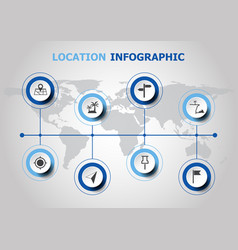 Infographic design with location icons vector