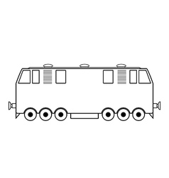 Locomotive icon vector image