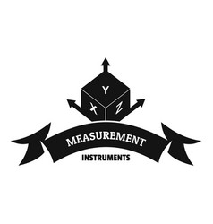 measurement cube logo simple black style vector image