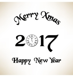 Merry Christmas and New Year eve vector image vector image