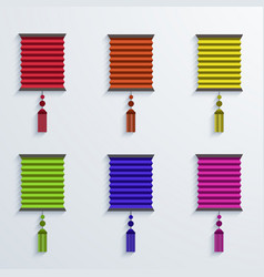 modern chinese Paper Lantern set vector image