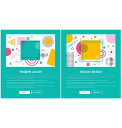 modern design colorful banner vector image vector image