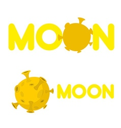 Moon Companys logo with a yellow planet vector image vector image
