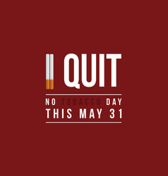 no tobacco day background flat vector image
