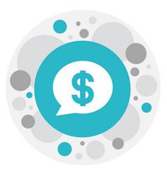 Of gambling symbol on bubble vector