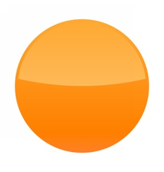 Orange glossy button blank round icon vector image