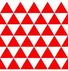Red White Triangle Background vector image