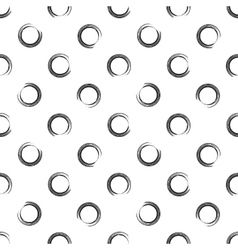 Seamless pattern of open round point vector