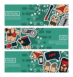Set of Horizontal Banners about sexual vio vector image vector image