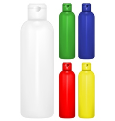 Shampoo bottle vector