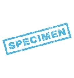 Specimen Rubber Stamp vector image vector image