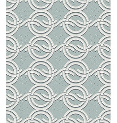 Vintage style circles and waves seamless pattern vector image vector image