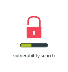 Vulnerability search concept in flat style vector