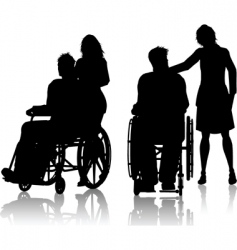 wheelchair silhouette vector image