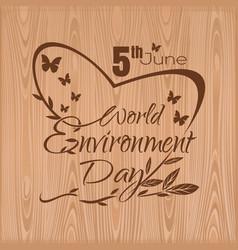 World environment day 5 june typographic design vector