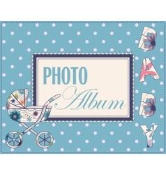 Baby photo album cover vector