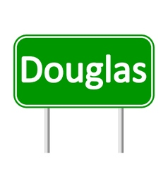Douglas road sign vector