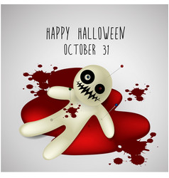 Halloween background ghost on blood vector