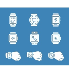 Smartwatch icons vector
