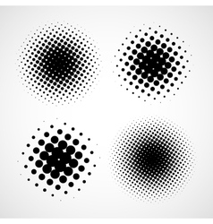 Abstract halftone backgrounds set of isolated vector