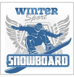 Snowboard - winter sport stock vector