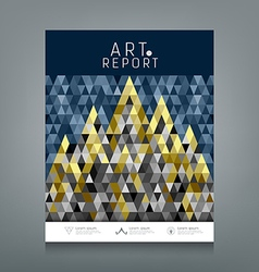 Cover report triangles geometric concept vector