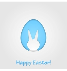Easter egg and rabbit design vector