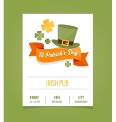 St Patrics Day poster vector image