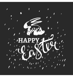 Easter bunny lettering vector