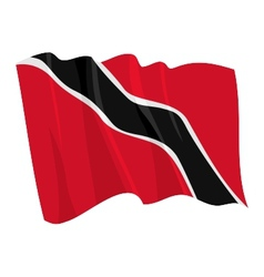 Political waving flag of trinidad vector