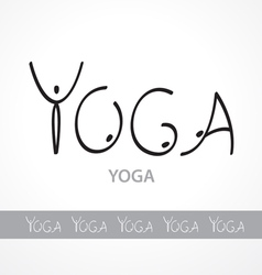Yoga logotype vector