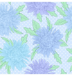 Seamless background with flowers hand-drawn vector