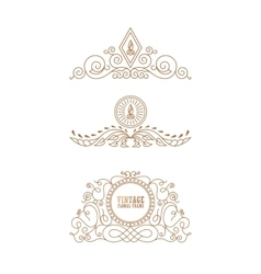 Calligraphic luxury logo emblem elegant decor vector