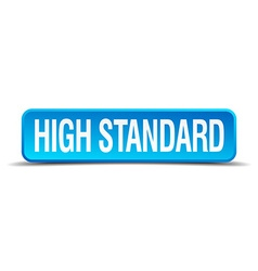High standard blue 3d realistic square isolated vector