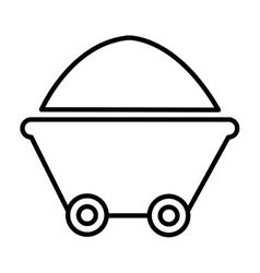 Isolated container and wheels graphic vector