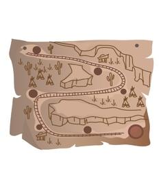 Old treasure map of indian railway vector