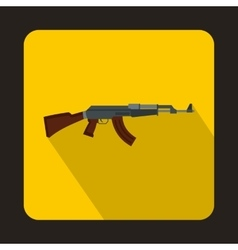 Automatic machine gun icon flat style vector