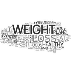 A weight loss plan for success text word cloud vector