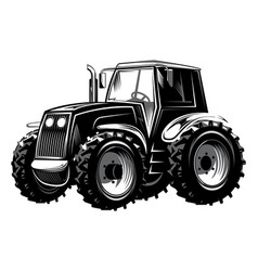 agricultural tractor for vector image vector image