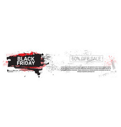 black friday big holiday sale horizontal banner vector image vector image