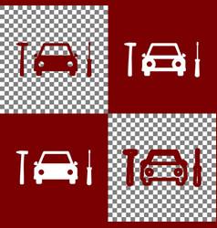 Car tire repair service sign bordo and vector