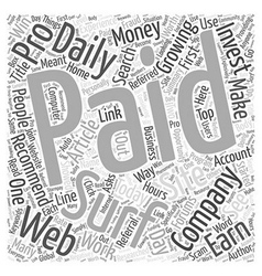 Get paid to word cloud concept vector